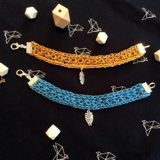 bracelet facile crocheté