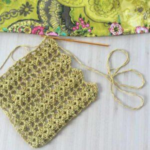 Écharpe au crochet pour le printemps – Tuto détaillé