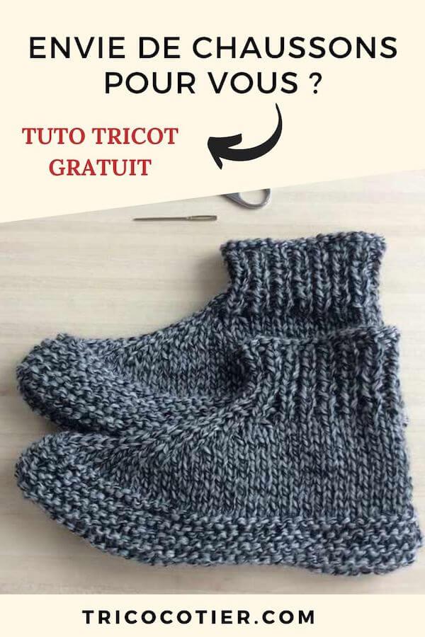 Comment tricoter des chaussons pour adultes. Tuto avec des explications de ce patron de tricot, un modèle Aglaé Laser