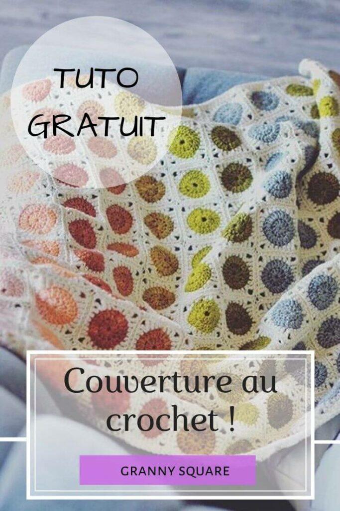 Couverture crochet granny square
