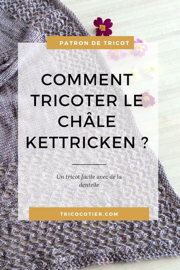 Amusez-vous en tricotant le châle Kettricken ! C'est un facile facile accessible aux tricoteuses débutantes. Modèle de tricot Aglaé Laser à télécharger