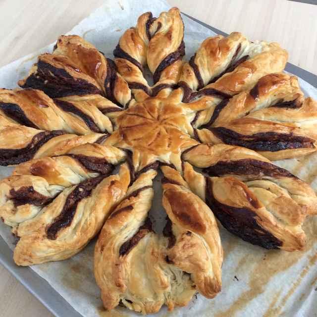 Étoile à la pâte à tartiner : Dessert facile, rapide et qui fait son effet !