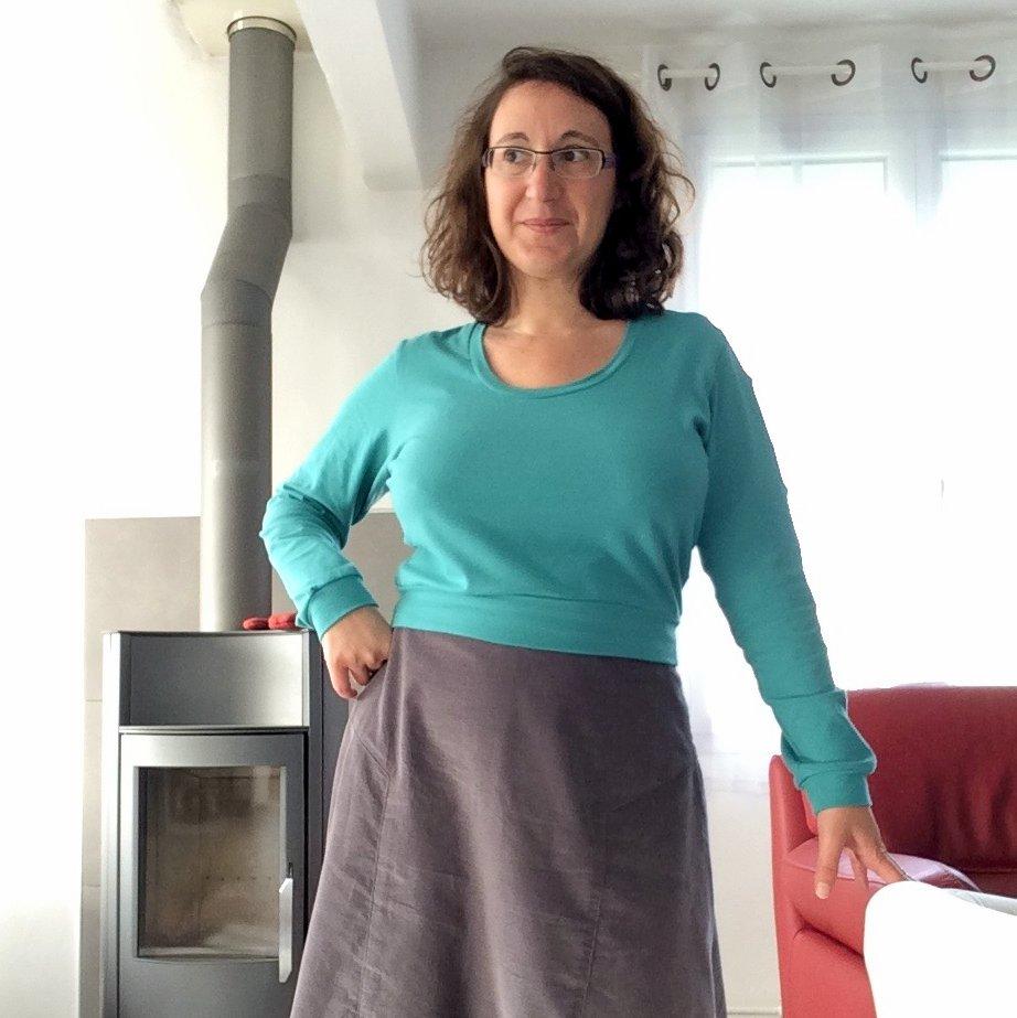 Une tenue pour l'hiver : jupe Azara et haut Ondée