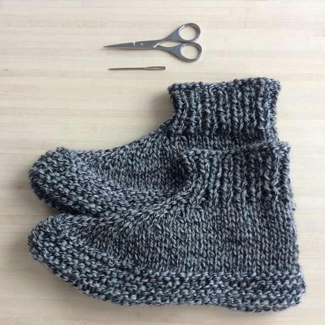 chaussons au tricot pour adultes - bilan blogging