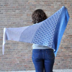 Châle Hastag tricot avec de la mosaïque