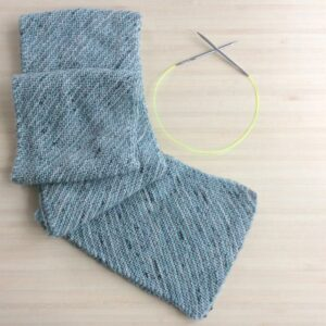 Chemins de traverse, comment tricoter une écharpe en biais (Tuto gratuit)