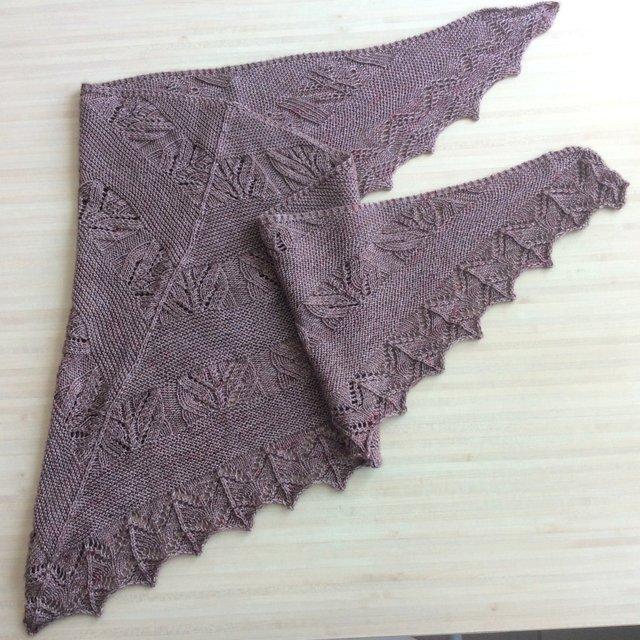châle au tricot antique
