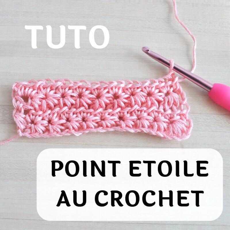 Comment faire le point étoile au crochet ? (tuto)