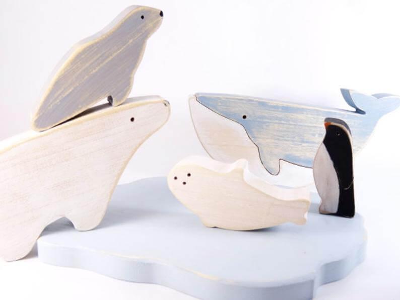 jouet en bois banquise etsy