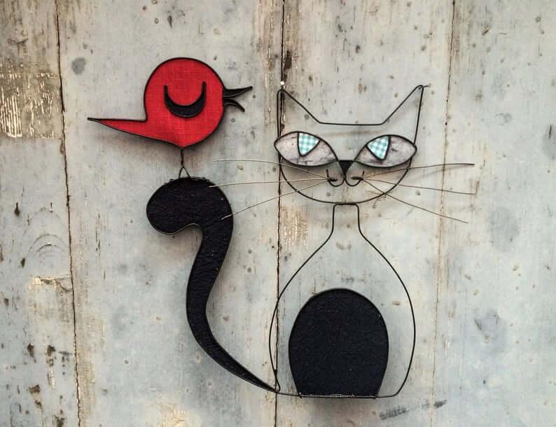 chat fil de fer