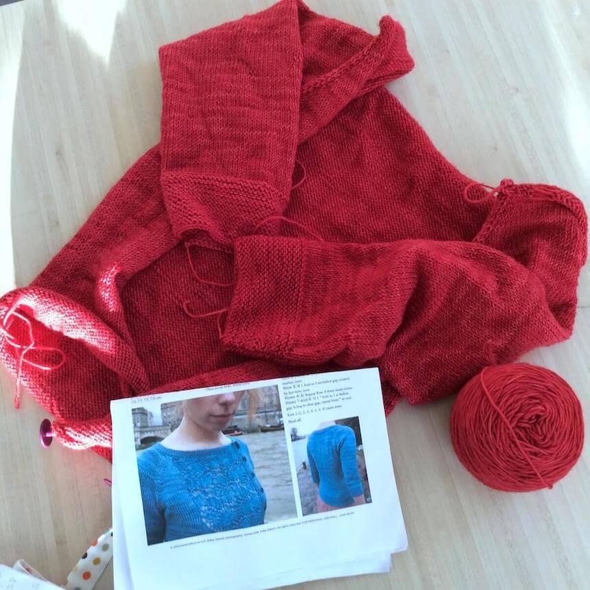 contruction du pull tricot