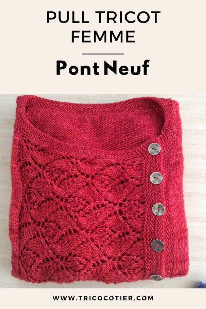 pull femme à tricoter pont neuf