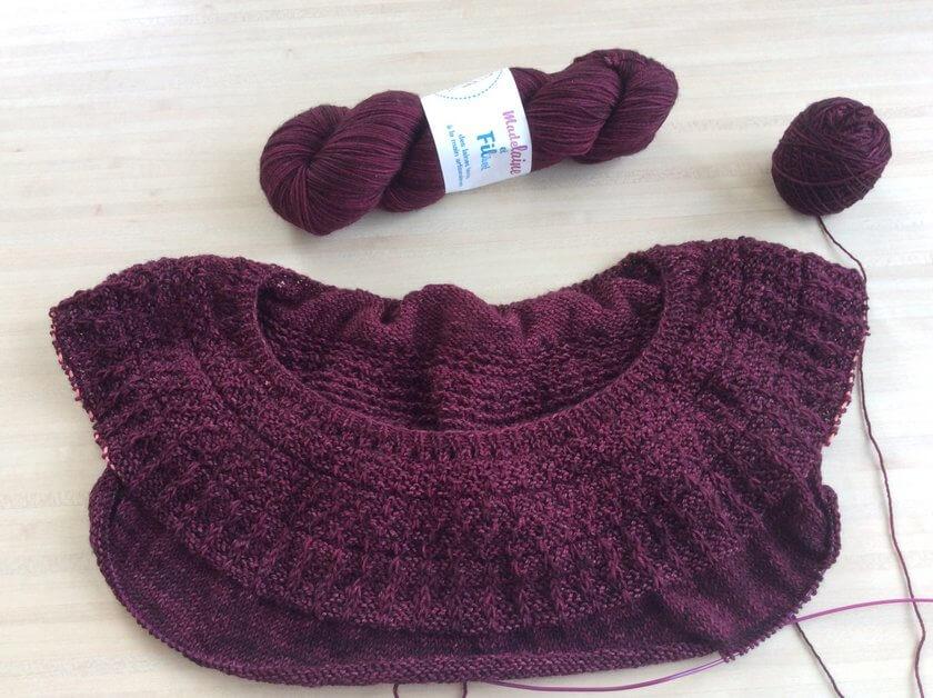 yoke tricot pull femme
