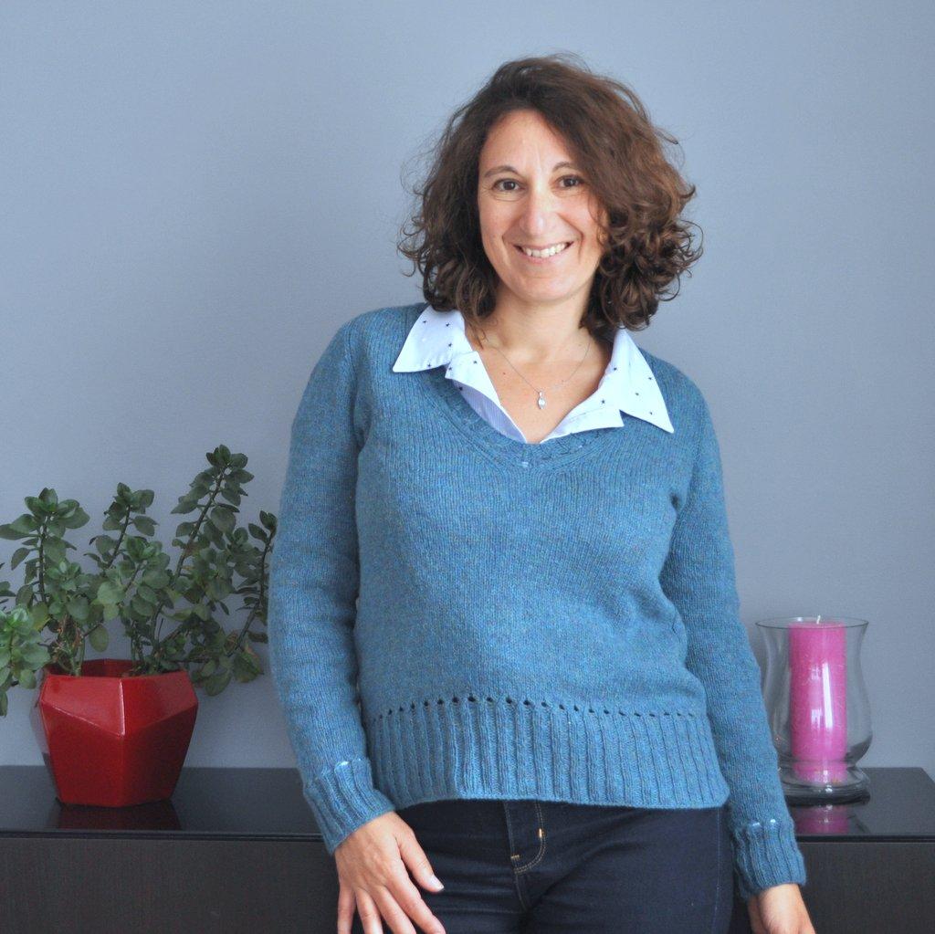 Le tricot parfait avec une chemise : le pull Báirbre