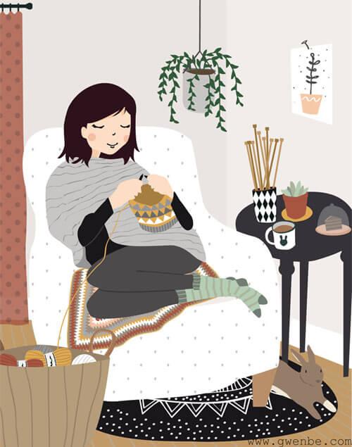 illustration tricot