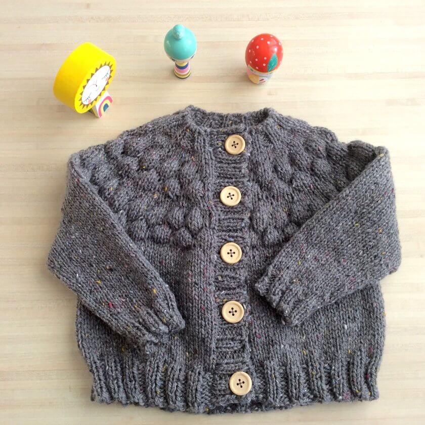 Little Tiyuan un cardigan enfant au tricot
