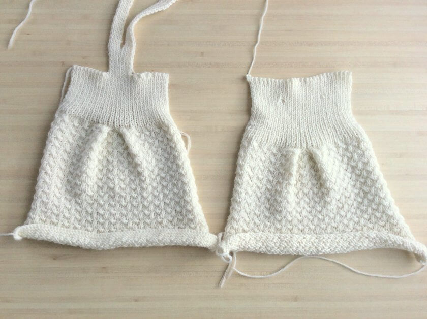 blocage tricot layette petit biscuit