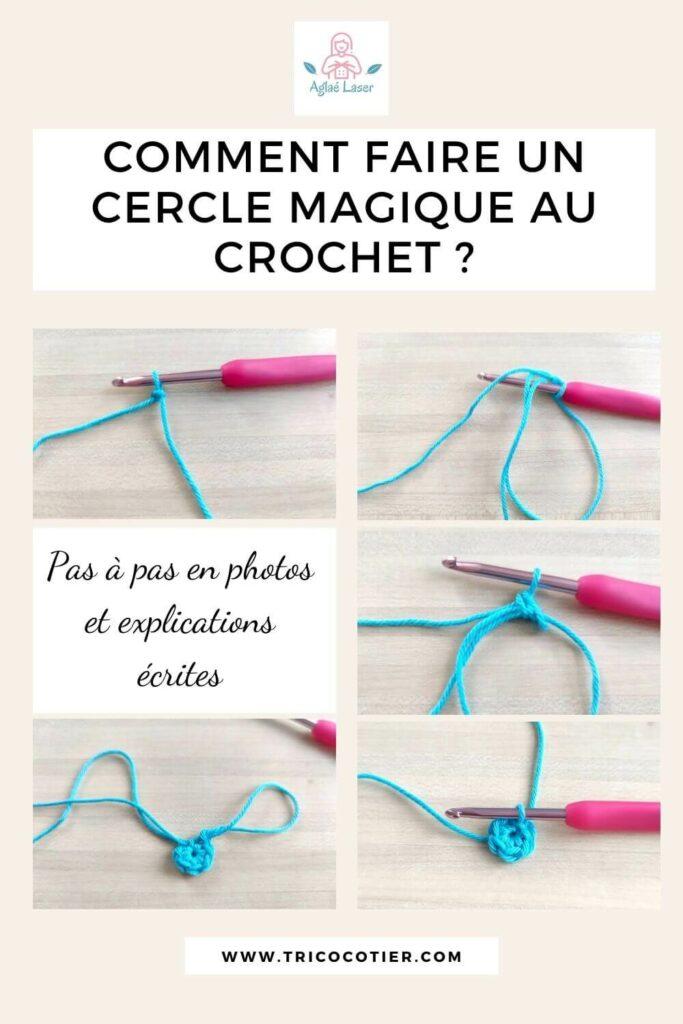 tutoriel comment faire un cercle magique au crochet