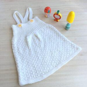 Collection Petit Biscuit : la robe en laine pour bébé