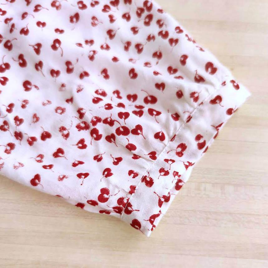 poignet de la blouse suun