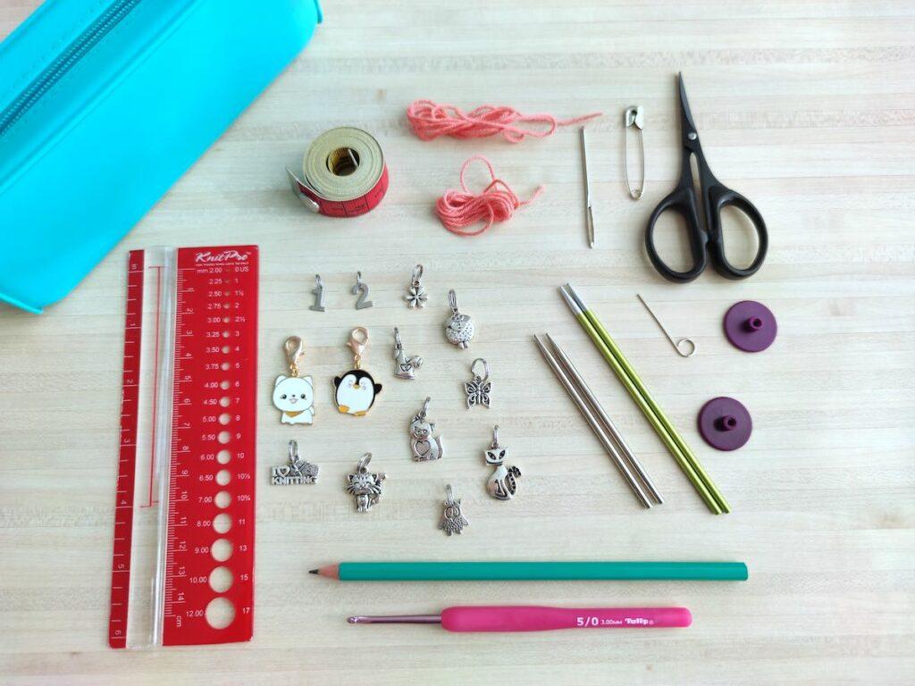matériel trousse de tricot pour un tricothé réussi