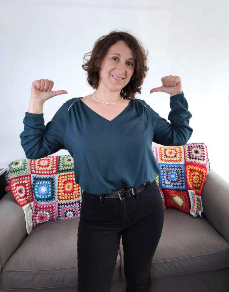 Patron de couture p&m patterns, haut pour femme Tissu Atelier Brunette