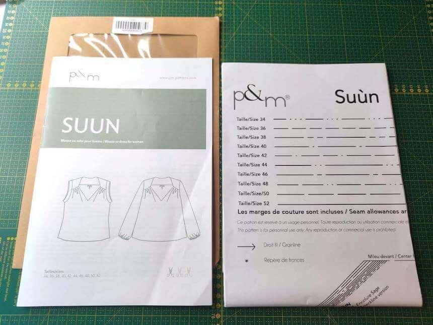 patron de couture pochette p&m patterns suun livret format A4