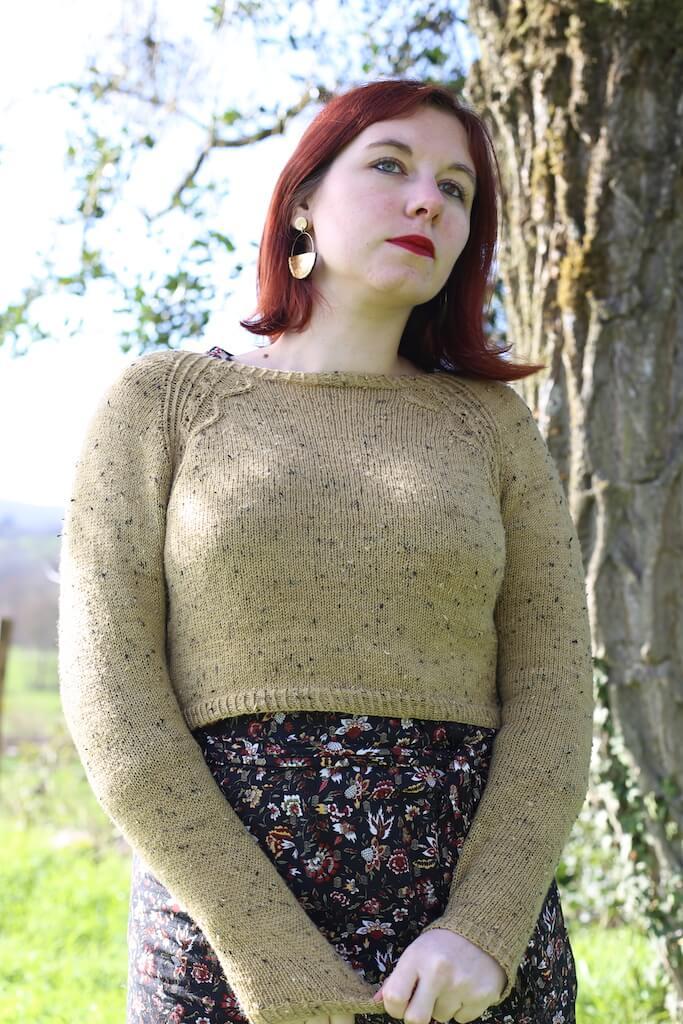 Pull saiga modèle de tricot femme folie ordinaire coups de cœur