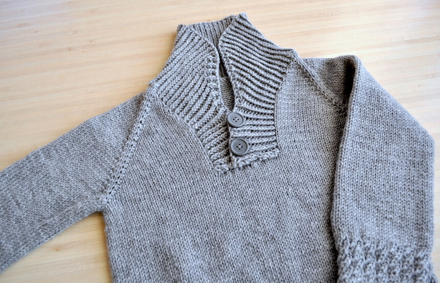 col châle du pull tricot boy sweater