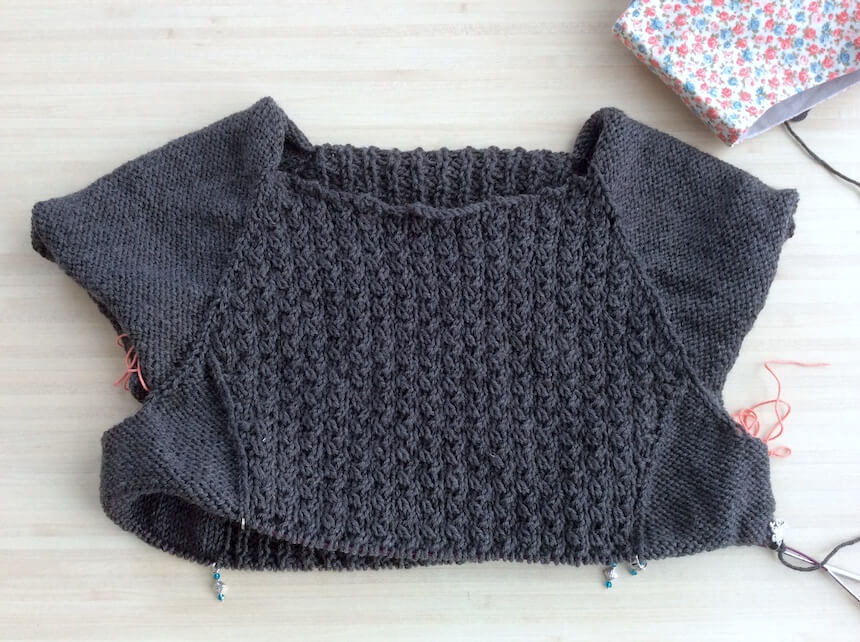 encours pull tricot