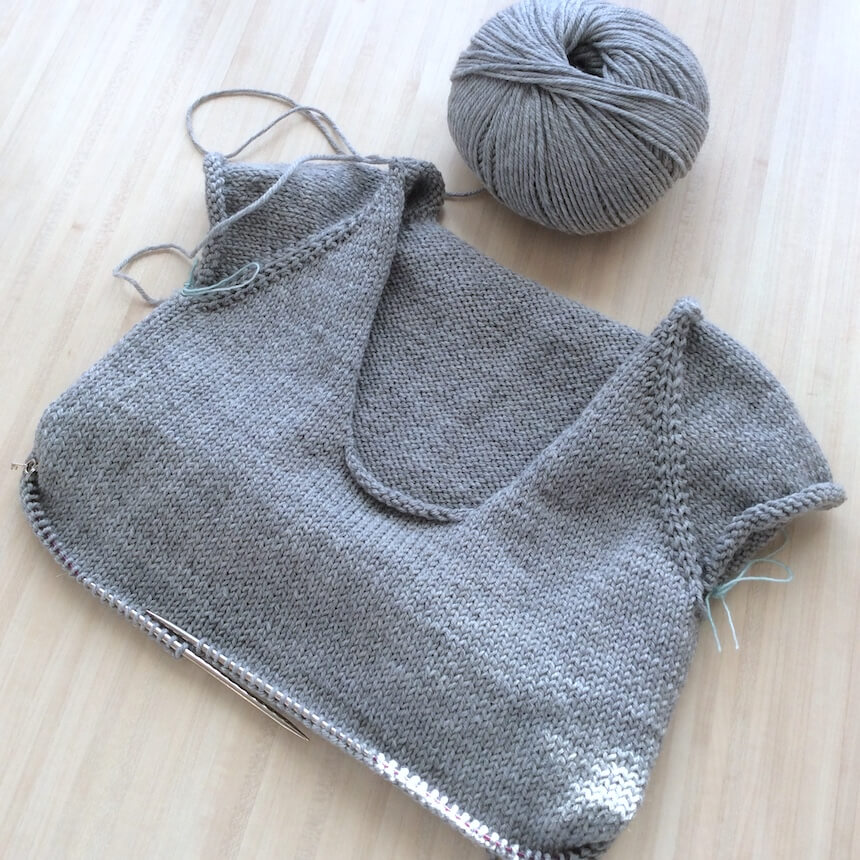 encours tricot boy sweater