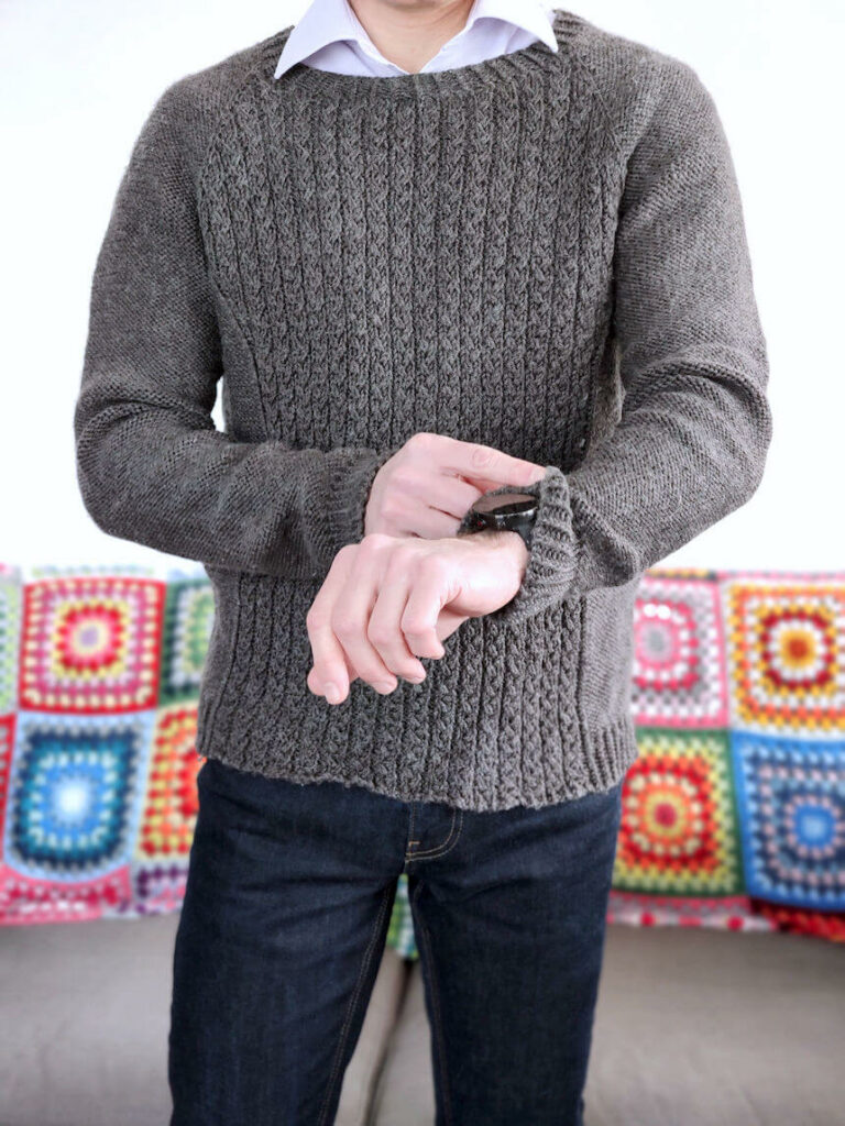 Pull à tricoter pour homme cascade yarns