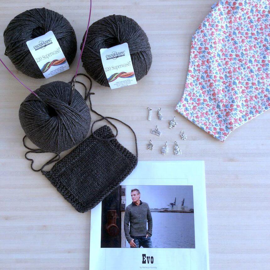 matériel pour tricoter le pull homme Evo