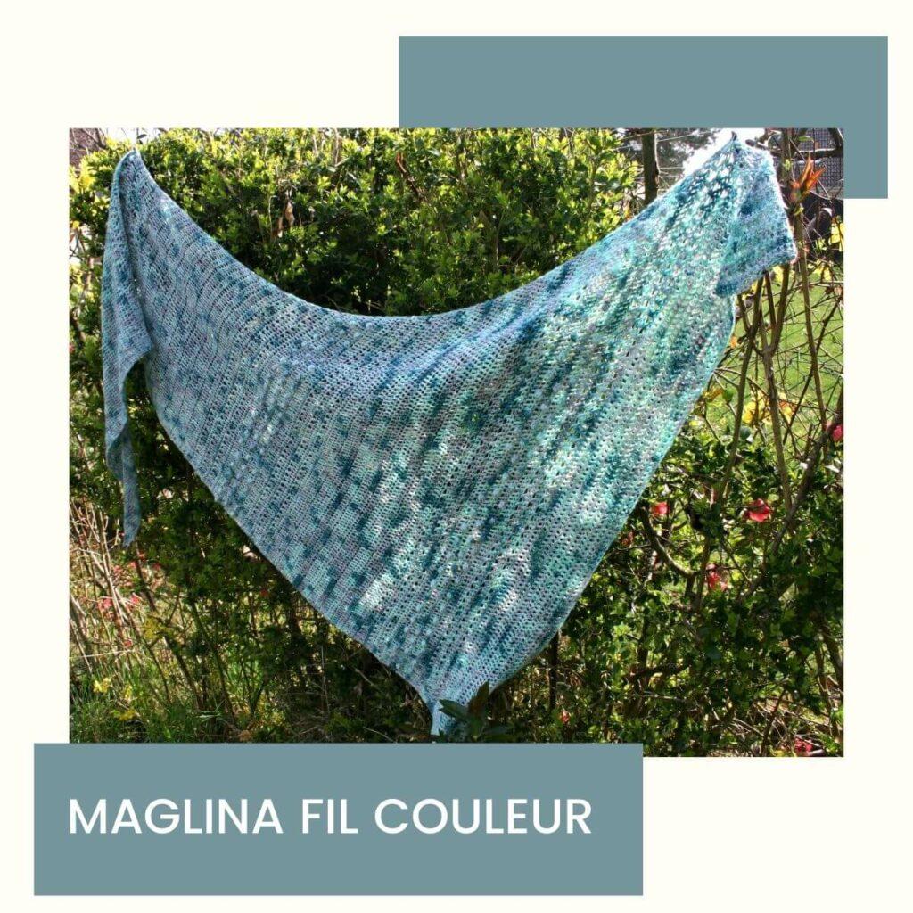 modèle de châle facile et moderne crocheté par Maglina