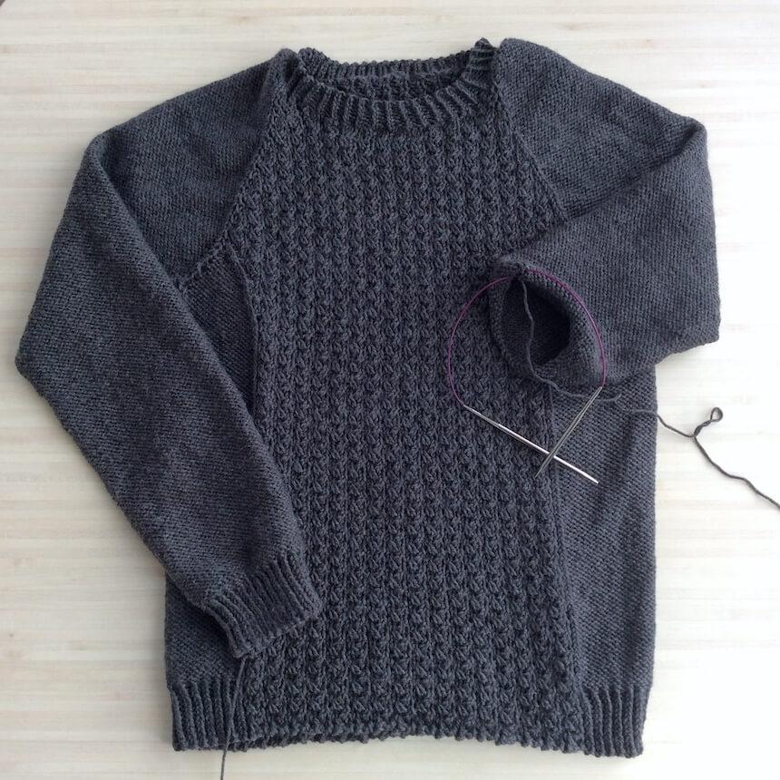 pull à tricoter pour homme