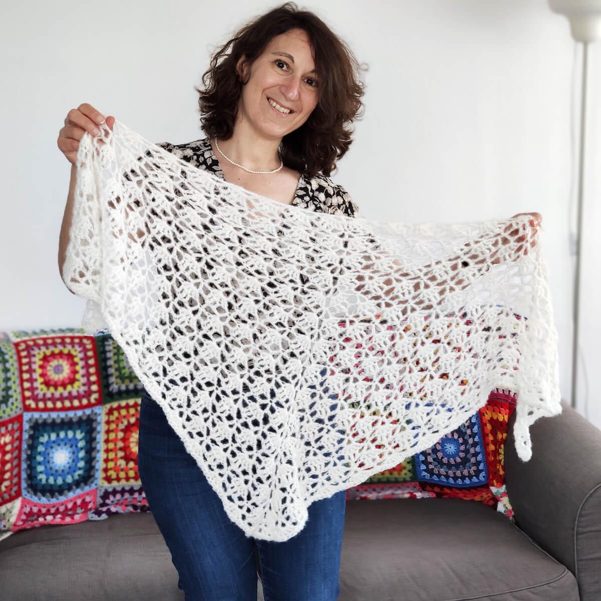 Tutoriel en français du châle Elise (Elise shawl) au crochet