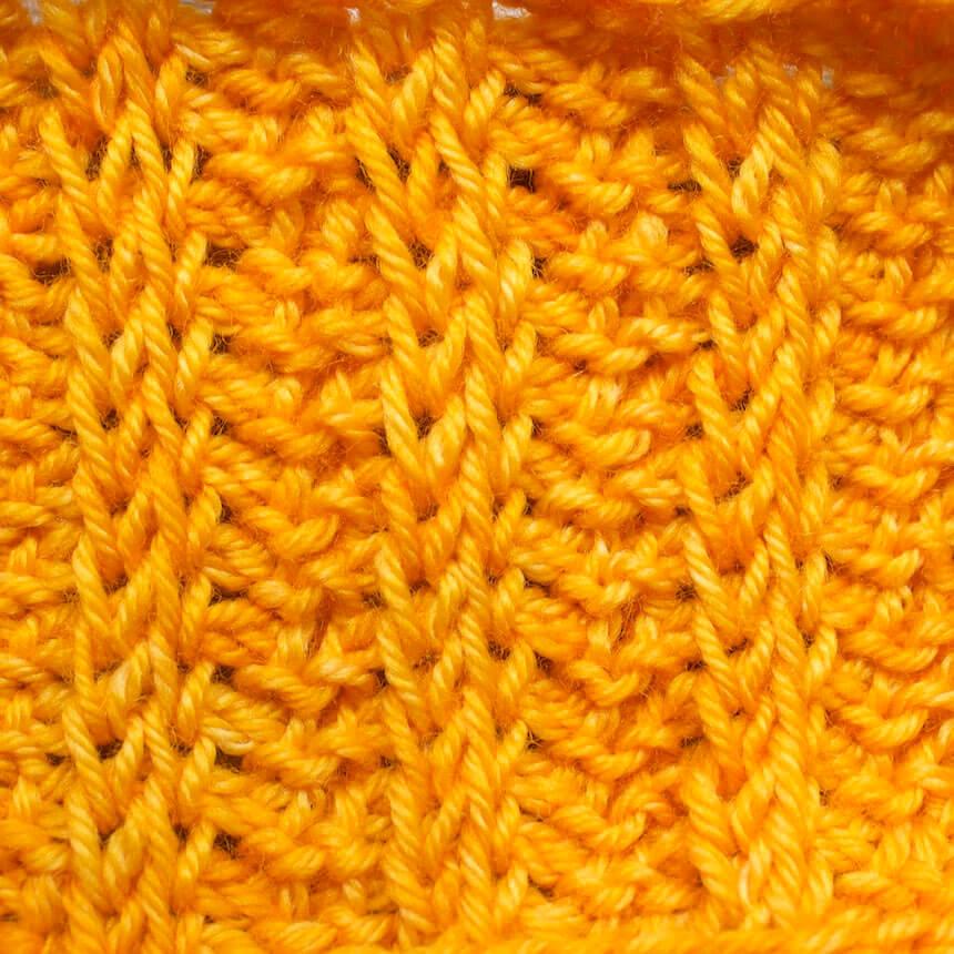 côtes 2 x 2 au crochet