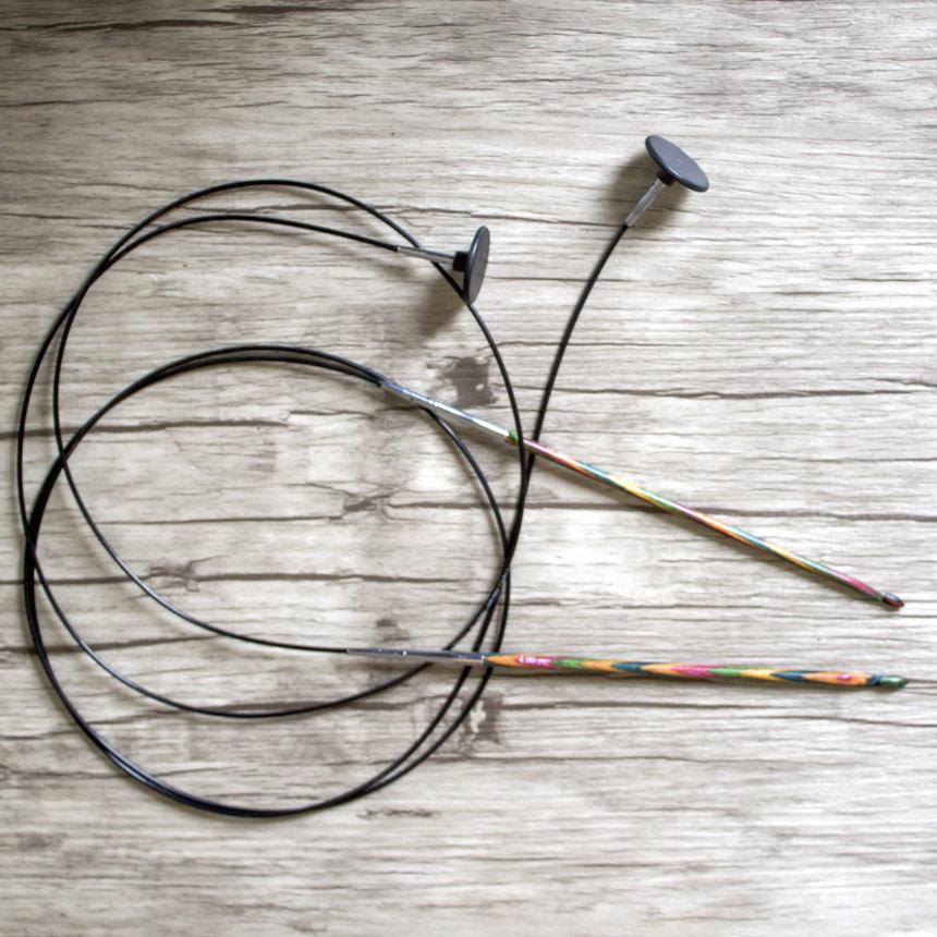 Crochet tunisien Knit Pro bois avec câble