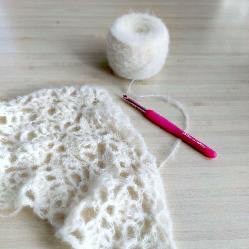 Explication du diagramme Elise shawl au crochet