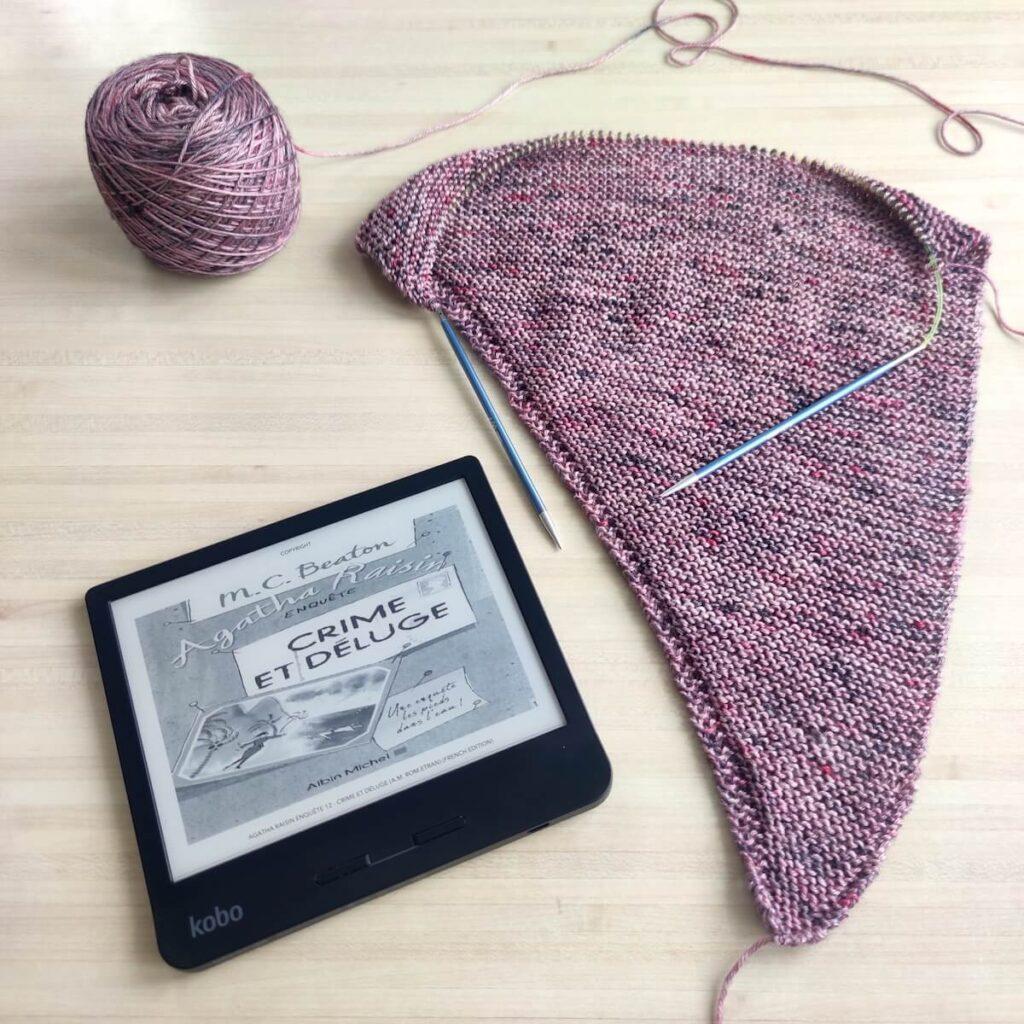 lire agatha raisin tout en tricotant une jolie laine mérinos